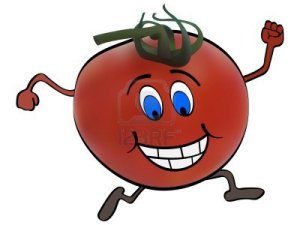 tomato running on a treadmill, aka me at the gym today