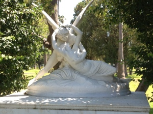 One of my fave ever statues - did not expect to find it in a cemetery!