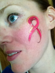 Yes it is my face, horrendously close up, eek! But how else can I show off the face painting?