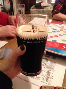 Guinness and scrabble