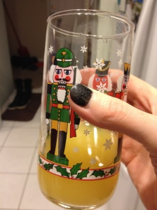 Mimosa in a nutcracker glass? Don't mind if I do!