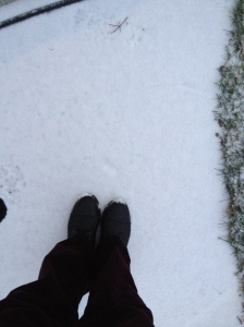 I highly enjoyed making footprints in the snow!
