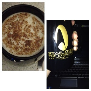 Warm Almond Milk topped with Nutmeg