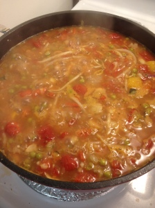 The finished product - veggie soup!