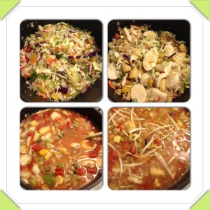 how veggies become soup!
