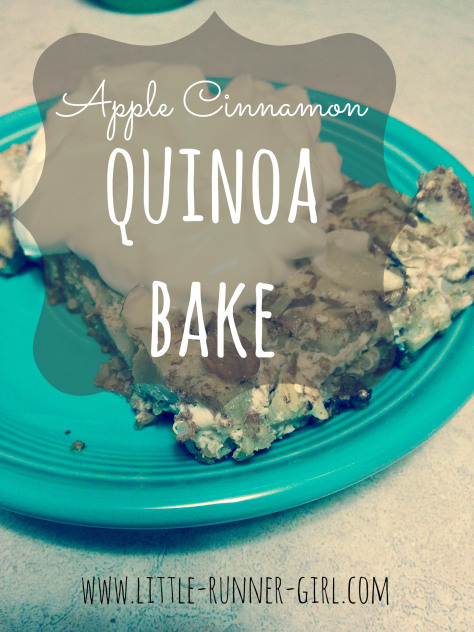 Apple cinnamon quinoa bake