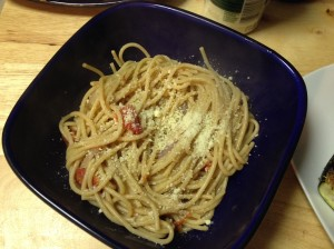 not as pretty looking lol topped with parmesan cheese, Mmm!