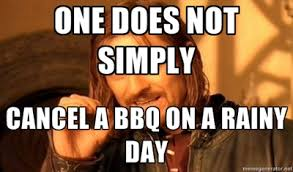 Image result for bbq in the rain