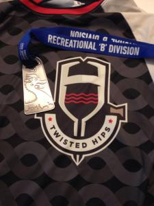 one of my teammates medals resting on his jersey