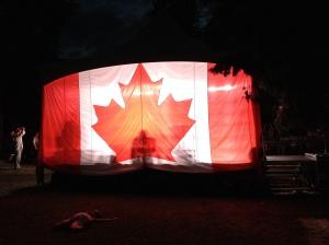 That's one big flag!
