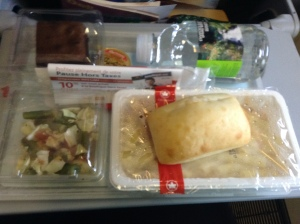 Airplane food, yay!