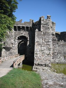 The entrance, you can see the moat that surrounds the castle.