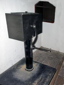 This is the machine in the cell, the person would turn that handle over and over and over every day.
