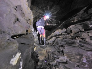 Climbing - who'd have imagined such steep climbs inside a mine?