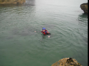 Happy and safe bobbing about in the ocean