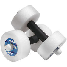 the foam dumbbells