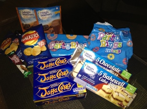 Junk food from the UK, score!