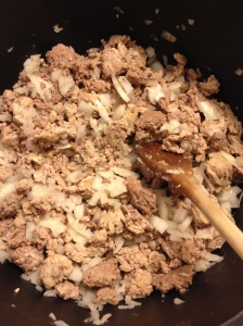 turkey, beef and onion