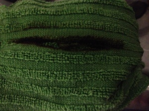 My scorched towel.