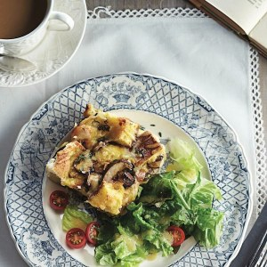 Cheese-and-mushroom-strata