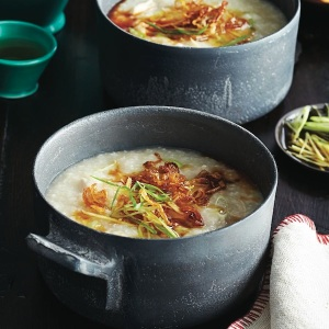 Gingery-chicken-congee