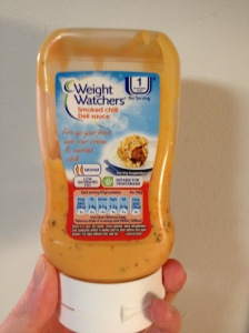The smoked chilli deli sauce from Weight Watchers, one of my faves!