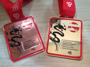 My bronze and my gold medals.