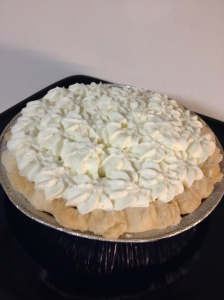 Home made banana cream pie
