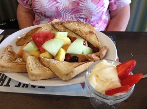 French toast with lots of fruit!