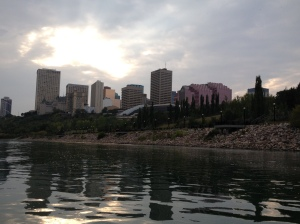 A view from the middle of the river