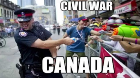 canada day water fight