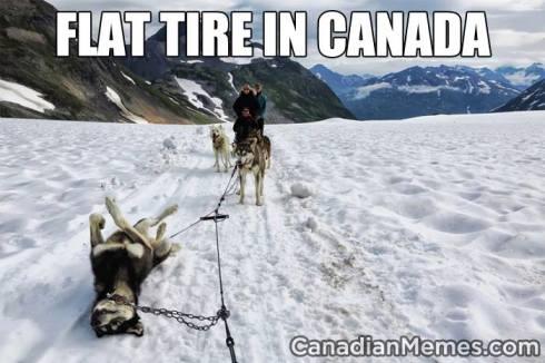 canada flat tire